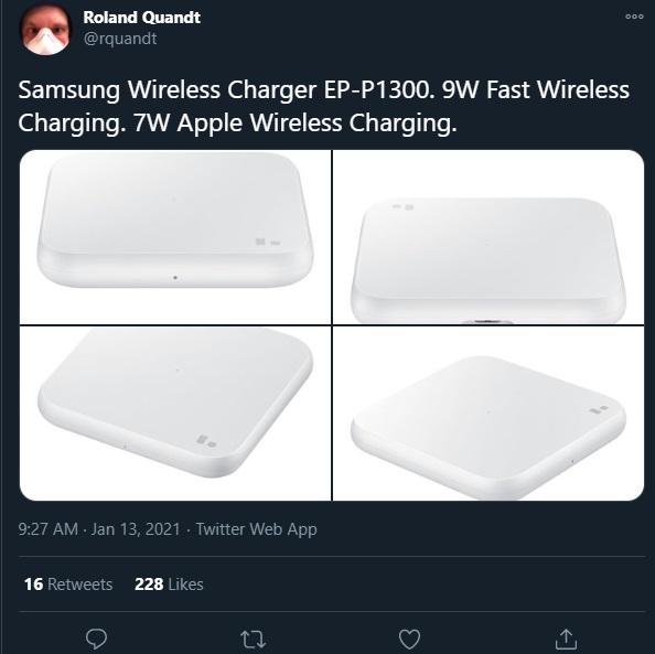 三星新款无线充电板再曝光:支持 7W 苹果快充和 9W 三星快充