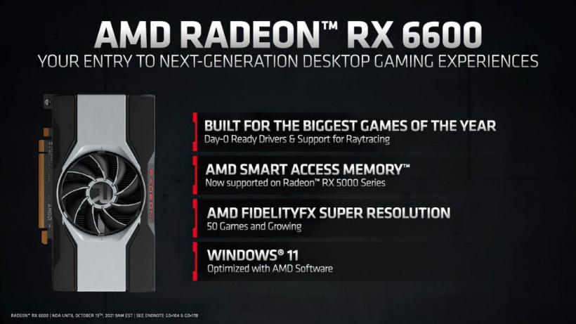 2499 元起,AMD RX 6600 显卡发布:1792 流处理器 + 8GB 显存