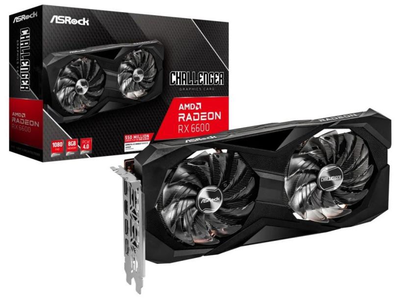 华擎发布 AMD RX 6600 系列显卡:单/双风扇设计,3358 元